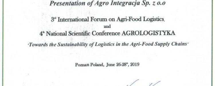Agro integracja partnerem konferencji Agrologistyka